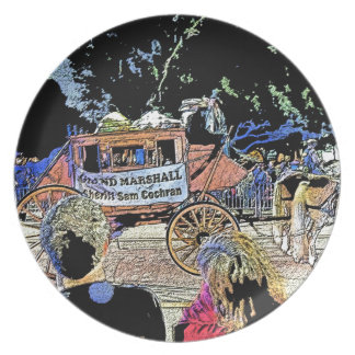 Order of LaShe's Grand Marshall Stagecoach Dinner Plate