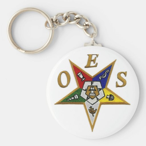 ORDER of the EASTERN STAR Basic Round Button Keychain