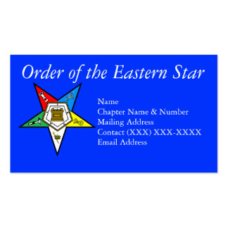 Order of the Eastern Star Blue Business Cards