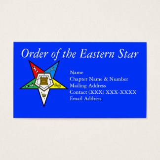 Prince hall gifts on zazzle order of the eastern star blue business card reheart Image collections