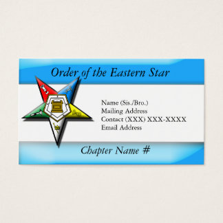 Eastern star business cards templates zazzle order of the eastern star blue business card reheart Image collections