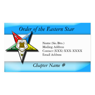 Order of the Eastern Star Blue Business Card Templates
