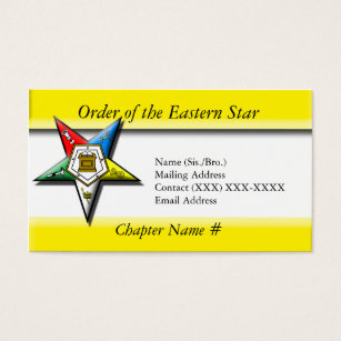 Order of the eastern star business cards templates zazzle order of the eastern star business card reheart Image collections
