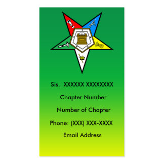 Order of the Eastern Star Business Card