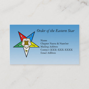 Order of the eastern star business cards zazzle order of the eastern star business card reheart Images