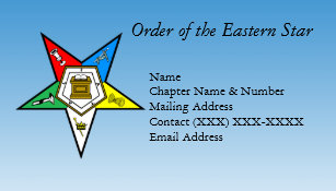 Prince hall gifts on zazzle order of the eastern star business card reheart Image collections