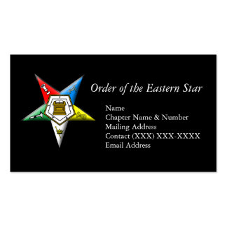 Order of the Eastern Star Business Card Template