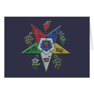 Order Of The Eastern Star Card