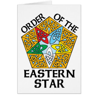 Order of the Eastern Star Celtic Knot design Card