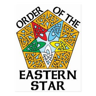 Order of the Eastern Star Celtic Knot design Postcard