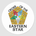 Order of the Eastern Star Celtic Knot design Stickers