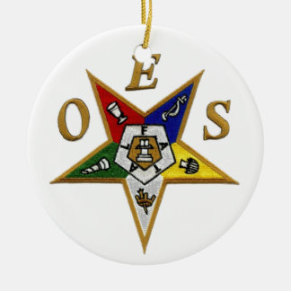 ORDER of the EASTERN STAR Ceramic Ornament