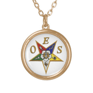 ORDER of the EASTERN STAR Gold Plated Necklace