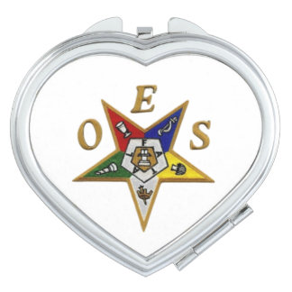 ORDER of the EASTERN STAR  Heart Compact Mirror
