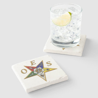 ORDER of the EASTERN STAR   MARBLE STONE COASTER