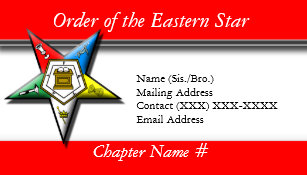 Eastern star gifts on zazzle order of the eastern star red business card reheart Image collections