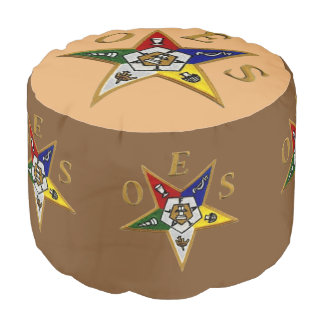 ORDER of the EASTERN STAR   Round Ottoman Pouf