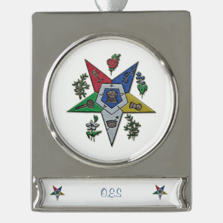 Order Of The Eastern Star Silver Plated Banner Ornament