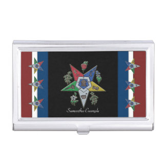 Masonic business card holders cases zazzle order of the eastern star usa business card holder reheart Image collections