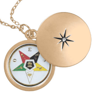 Order Of The Eastern Stars light Locket Necklace