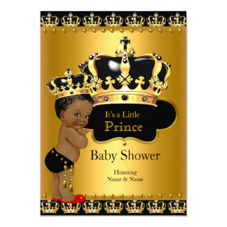 Order Prince Baby Shower Red Black Gold Card