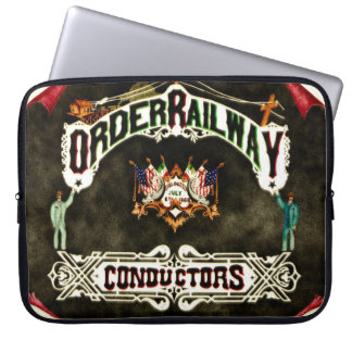 Order Railway Conductors Emblem 1889 Computer Sleeves