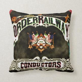 Order Railway Conductors Emblem 1889 Pillows