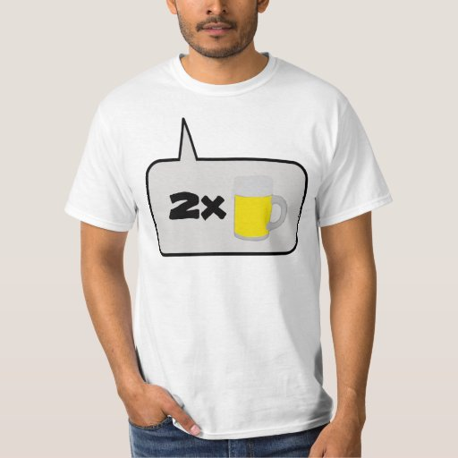 Ordering Two Beers Talking Balloon T-Shirt