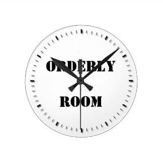 Orderly Room Round Clock