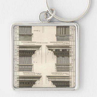 Orders of Architecture, Vintage Entablatures Keychain