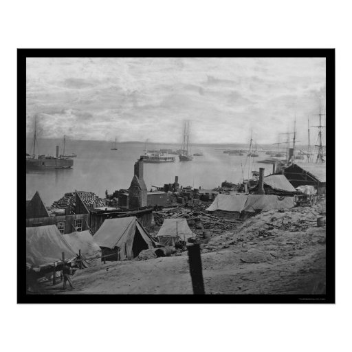 Ordinance Barge Explosion at City Point 1864 Print
