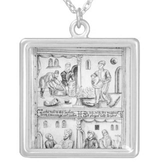 Ordinance of the Bakers of York, 1595-96 Silver Plated Necklace