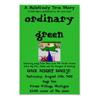 ordinary green poster