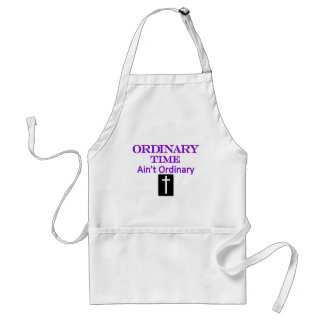 """""""Ordinary Time Ain't Ordinary"""" Purple and Yellow Adult Apron"""