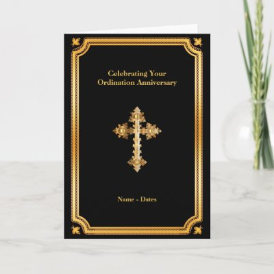 Ordination Anniversary ANY  25th 30th 40th 50th Card