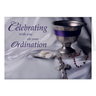 Ordination, Congratulations Chalice, Rosary Card