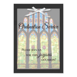 Ordination Invitation - Stain Glass