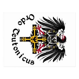 Ordo Teutonicus águila de emperador tarjeta postal