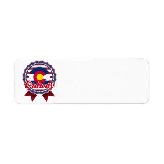 Ordway, CO Return Address Label