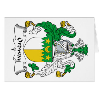 Ordway Family Crest Greeting Card