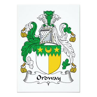 Ordway Family Crest 5x7 Paper Invitation Card