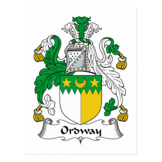 Ordway Family Crest Postcard