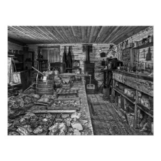 ORE ASSAY SHOP NEVADA CITY MONTANA GHOST TOWN POSTER