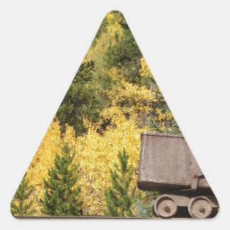 ore cart breckenridge triangle sticker