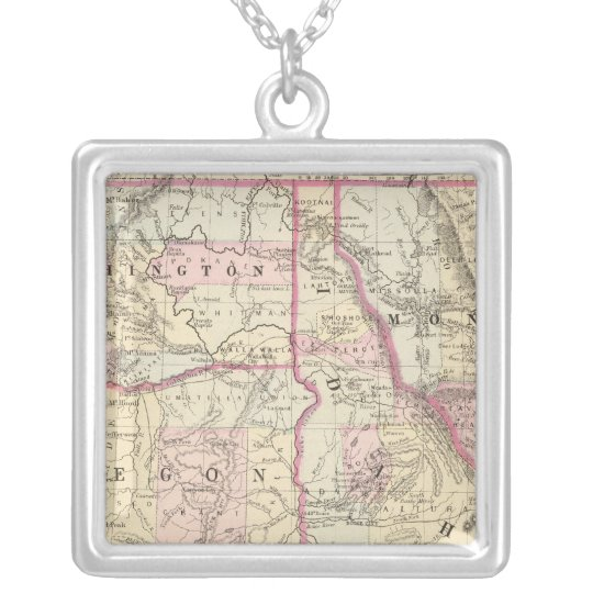 Ore, Wash, Ida, Mont Silver Plated Necklace