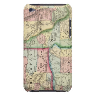 Ore, Wash, Idaho, Mont Map by Mitchell iPod Case-Mate Cases