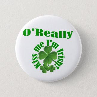 O'Really, Irish surname Pinback Button