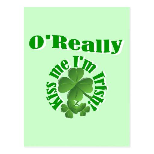 O'Really, Irish surname Postcards