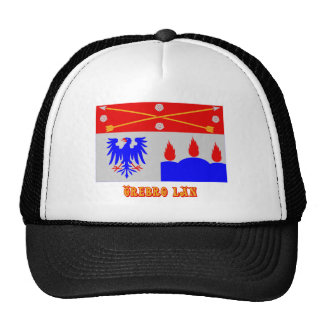 Örebro län flag with name trucker hats
