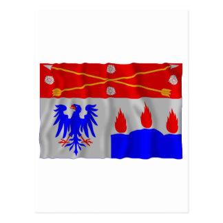 Örebro län waving flag postcards